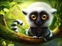 A lemur by Artua #Design Popular #Dribbble #shots