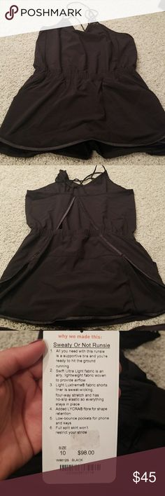 Sweaty or Not Runsie LULULEMON Sweaty or Not Runsie. Tag is detached but never worn. Skort with tight shorts connected lululemon athletica Skirts