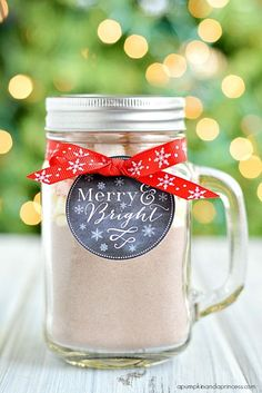 Peppermint Hot Cocoa Gifts + Printable Tags