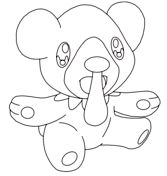 Cubchoo Coloring page