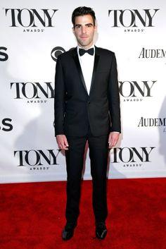 Celebs Hit The Red Carpet At The 2013 Tony Awards. Zachary Quinto