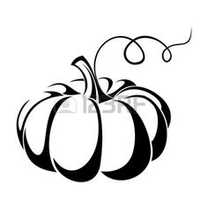 Pumpkin Patch Clip Art Black And White 21995552 Pumpkin Vector Black