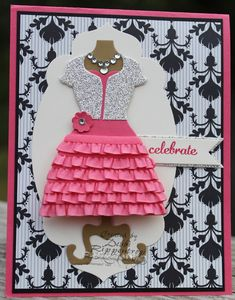 Debbi's Design Stamping: Dazzling Dress up