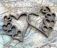 This Heart Jewelry is beautiful and light weight. This fun wood Heart Jewelry is proudly made and assembled in the USA. Wooden Earrings, Wooden Jewelry, 3d Laser Printer, Valentine Day Gifts, Valentines, Laser Cut Jewelry, Laser Cutting Machine, I Love Heart, Scroll Saw Patterns