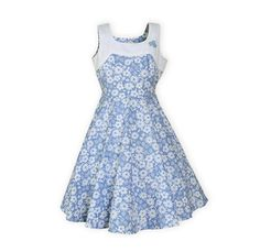 e00f594aacc Sky Blossoms Tween Girls Floral Swing Dress The Wooden Soldier Exclusive  Adorable sister dresses in blue