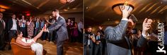 Garter Toss photographed at a Columbia MO Wedding Reception