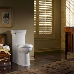 http://plomberieroy.com/residentiel-toilettes-bidets American Standard 2786.128.020 Tropic Right Height Flowise Elongated One Piece Toilet in White