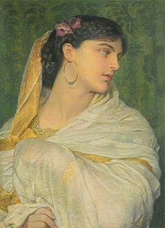 Sir Frederick William Burton 1816-1900 SHIREEN signed with initials l.r. watercolour and bodycolour 47 by 34cm., 18½ by 13½in.