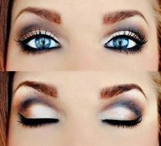 helle schöne augen mit einem ganz einfachen make up