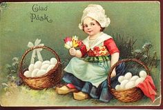 Easter Little Dutch Girl with Baskets & Eggs a3460 | Flickr - Photo Sharing!