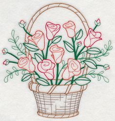 Marvelous Crewel Embroidery Long Short Soft Shading In Colors Ideas. Enchanting Crewel Embroidery Long Short Soft Shading In Colors Ideas. Embroidery Flowers Pattern, Machine Embroidery Patterns, Embroidery Needles, Crewel Embroidery, Vintage Embroidery, Ribbon Embroidery, Embroidery Kits, Floral Embroidery, Embroidery Monogram
