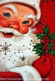 Very Merry Vintage Syle: Sparkle and Shine... Vintage Christmas Cards