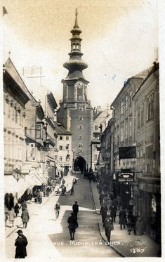 Michalská ulica Bratislava Slovakia, Old City, Old World, Old Photos, Past, Old Things, Street View, Black And White, Geo