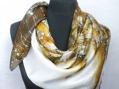Simira - Ohnivý květ. Luxusní hedvábný šátek - jena