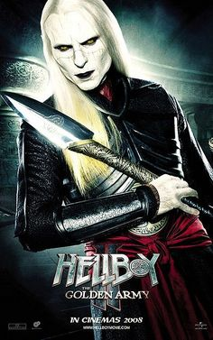 Luke Goss as Prince Nuada in Hellboy II: The Golden Army, (male demon, dark elf) Dc Movies, Movies And Tv Shows, Movie Tv, Movie Characters, Horror Movies, Fictional Characters, Roy Dotrice, Image Internet, Ron Perlman