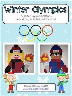 WINTER OLYMPICS CRAFTIVITY - TeachersPayTeachers.com