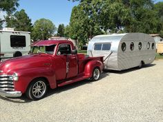 The truck's nice but check out that SWEET Airfloat travel trailer
