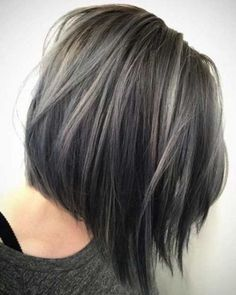 33 Short Grey Hair Cuts and Styles - Hair ColorCute Short Grey Hairstyles picture 3 ❤ Are you looking for the most flattering short grey hair color ideas and styles? Check out our amazing collection to get inspired! Grey Hair Dye, Short Grey Hair, Ombre Hair Color, Cool Hair Color, Short Hair Styles, Dyed Hair, Plait Styles, Silver Ombre, Gray Hair Color Ombre