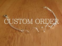 Custom order sound-wave bracelet. $17.00, via Etsy. So cool! i love this!