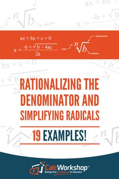 Discover the tricks to simplifying radicals and rationalizing denominators. And learn how to rationalize square roots, cube roots, and more using rational expressions. Algebra Equations, Solving Equations, Algebra 2 Help, Algebra 1, Simplifying Radicals, Online Math Courses, Middle School, High School, Linear Function