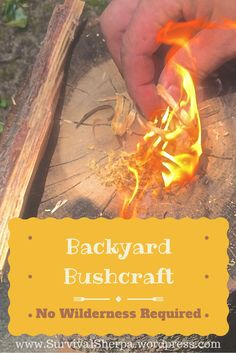 Backyard Bushcraft Skills: No Wilderness Required | Survival Sherpa