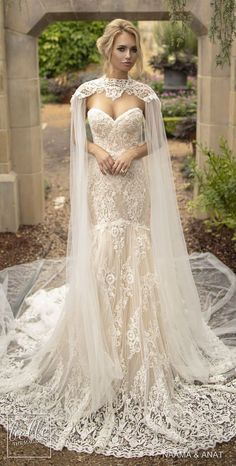 Wedding Styles a and Anat Wedding Dresses 2019 - Gowns of Wisdom Bridal Collection - The new and beautiful Naama and Anat Wedding Dresses Gowns of Wisdom Bridal Collection sends my heart aflutter like nothing else. Wedding Attire, Wedding Bride, Lace Wedding, Bridal Cape, Wedding Dress Cape, Bride Groom, Wedding Tuxedos, Trendy Wedding, Wedding Ceremony