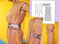 Burda Heidi 6010 Dress Pattern - love it with the obi.