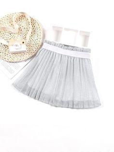 Girls Paperbag Waist Glitter Pleated Skirt – Kidenhouse Leopard Print Skirt, Floral Print Skirt, Floral Prints, Ditsy Floral, Printed Skirts, No Frills, Pleated Skirt, Color Blocking, Girl Skirts