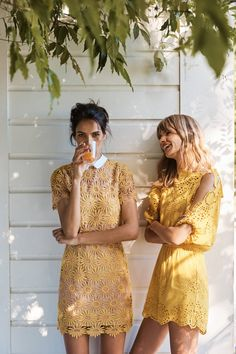 Sunflower Lace Dresses #yellowish