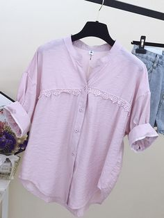 ZHI Pure Color V-neck Short Sleeve Casual Shirts look not only special, but also they always show ladies' glamour perfectly and bring surprise. Casual Shirt Look, Casual Shirts, Red And Pink, Short Sleeves, Glamour, V Neck, Pure Products, Clothes For Women, Tank Tops