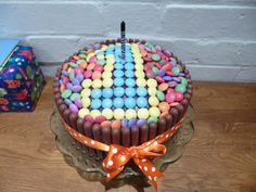 Smarties first birthday cake - easy peasy!