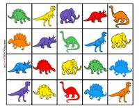 Dinosaur Preschool Printables matching the counters we have at school
