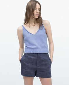 V-NECK TANK TOP zara - Google Search