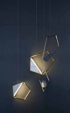 Tangle sculptural pendant light designed by Flip Sellin and Claudia Pineda De…