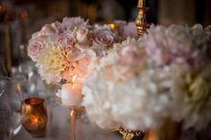 Clouds of flowers in delicate pastel color among candles and golden tea-lights #pastelcolor #thatsprettyneat #pastelflowers #clouds #hydrangea #flowerpower #flowermagic #flowersofinstagram #cloudstagram #closeup