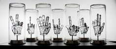 this would take FOREVER... super cool.  Capsule hands - Federico Carbajal - Sculpture