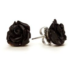 Rose earrings ❤ liked on Polyvore featuring jewelry, earrings, rose stud earrings, sterling silver earrings, sterling silver jewelry, earring jewelry and earrings jewellery