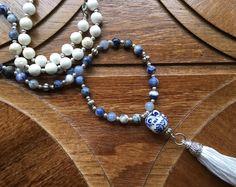 Long Tassel Necklace - Tassel Necklace - Long Necklace - Boho Necklace - Beaded Necklace - Bohemian Necklace - Tassel Jewelry - Bohemian