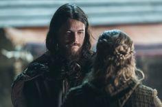 Kalf (Ben Robson) and Erlendur talk in Season 4 of History Channel's Vikings