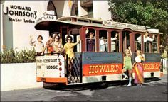 Our old trolley - the first of its kind in Anaheim - taking HoJo guest back and forth from the Disneyland entrance. Some people pictures STILL WORK AT THE HOJO to this day!