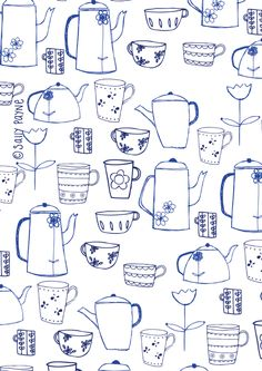 Illustration teapots_cups
