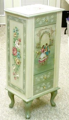 Decoupage Furniture, Paint Furniture, Bedroom Furniture, Box, Shabby Chic  Style, Interior Decorating, Heaven, Pedestal Tables, Bed Furniture