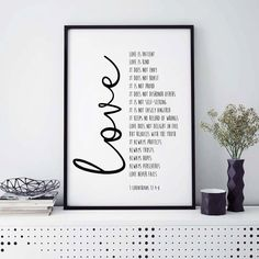 Bible Verse Print Love Is Patient 1 by saltstudioprints on Etsy