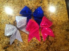3 inch sequin cheer bow by SavvysCheerBowtique on Etsy Only $12!