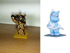 THE GOLD MARYLINCHEN 40 YEARS ANNIVERSARY FIGURE ALONGSIDE THE COLLECTION ONE FROM THE SET.2014.