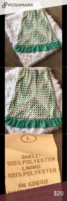 "Polka Dot Midi Skirt Barely worn!  Easy elastic waistband & completely lined.  Very feminine & romantic!🌻 30"" waist.  30"" long. Jonathan Martin Skirts Midi"