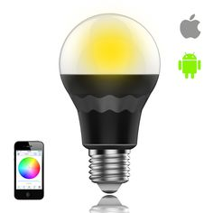 Smaty: App controlled Smart LED Bulb , can turn on/off , dim , change color of your light from IOS or Android device, with Timing function ,16Million colors available.