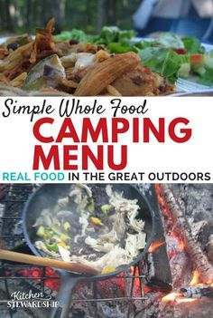 Perfect Real Food CAMPING Meal Plan A great camping meal plan that includes real food – plenty of gluten-free options too! Makes eating healthy whole foods on camping trips so easy. Real food camping tips and hacks for everyone! Camping Meal Planning, Camping Menu, Camping Hacks, Camping Recipes, Camping Ideas, Family Camping, Outdoor Camping, Healthy Camping Meals, Camping Essentials