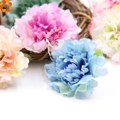 Decorative Flowers Artificial Silk Flowers Carnation Flower Heads For Home Garden/ Wedding Party Decoration Flower Model, Artificial Silk Flowers, Types Of Flowers, Flower Fashion, Festival Party, Carnations, Flower Decorations, Garden Wedding, Dried Flowers
