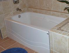 marble tile wall gray arabesque accent tile Master Baths